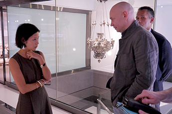Director of Contemporary Museum of Calligraphy visited Hong Kong
