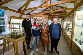 The expedition team visited the Museum of carpentry tools in the city of Pushkino