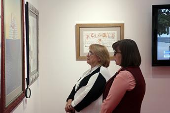 艺术史博士、教师薇拉•别罗泽罗娃访问现代书法馆