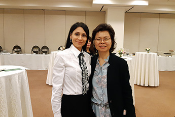 Ольга Шабурова встретилась с директором Культурного центра посольства Республики Корея в Москве госпожой Ви Мён Чжэ
