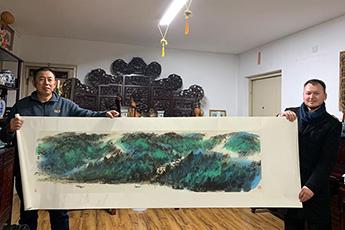 В Пекине состоялась встреча руководства Современного музея каллиграфии с художником Гу Дамином