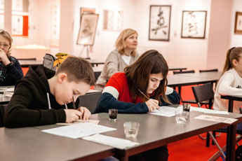 An excursion with a master class was held at the Museum of World Calligraphy