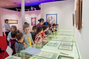 The Museum of World Calligraphy gave a most interesting tour including a workshop for students of the Moscow school
