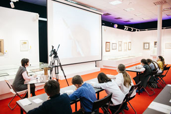 The World Calligraphy Museum held a special tour including workshop for children