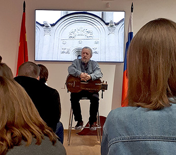 A creative meeting was held at the Museum of Russian gusli and Chinese guqin