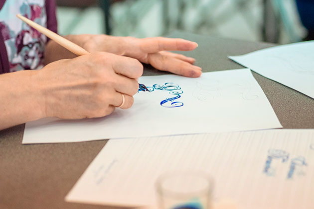 Sokolniki Calligraphy School invites you to the Pointed Pen online course