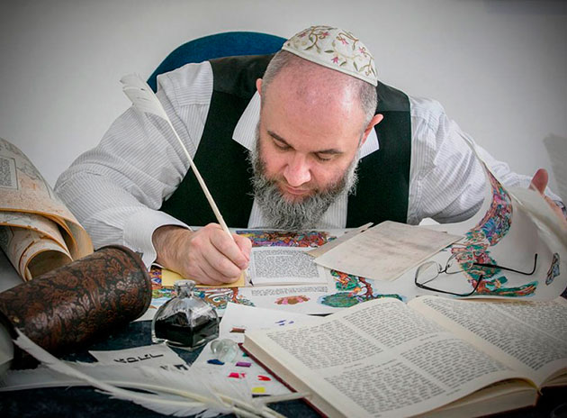 A well-known Israeli master of sacred and creative calligraphy Abraham Borshchevsky to give an online course on Jewish calligraphy