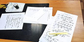 Открыт набор на осенние курсы каллиграфии