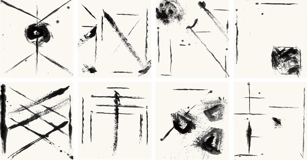 Выставка объединила пиктограммы Лянчжу и каллиграфию