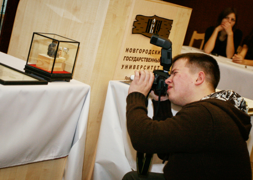 Presentation of the International Exhibition of Calligraphy in the Novgorod State University