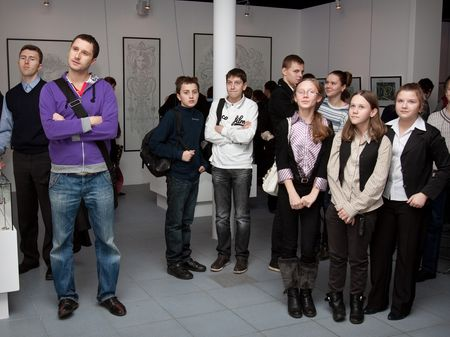 Первый урок каллиграфии для московских школьников и их учителей
