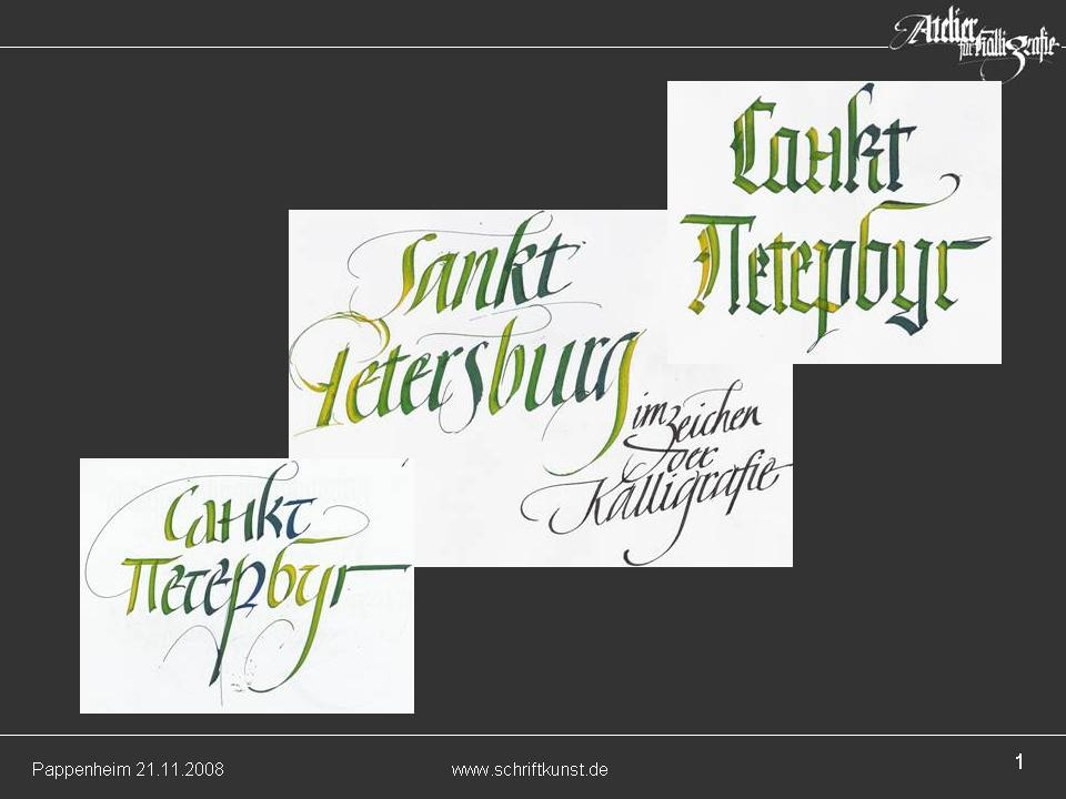 Presentation about the International Exhibition of Calligraphy by Hans Maierhofer in Regensburg