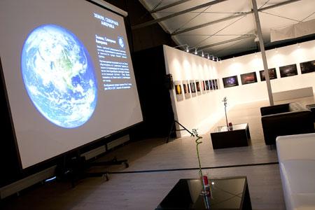 Космический футбол в рамках выставки